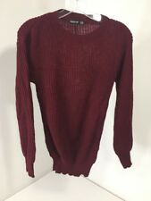 BOOHOO WOMEN'S PETITE IVY OVERSIZED JUMPER WINE UK:4/US:0 NWT
