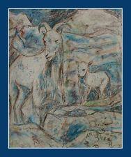 Wandbild-Im Louvre Paris Thea Schleusner 1879-1964-Zoologischer Garten Berlin xx