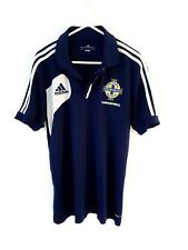 Northern Ireland Polo Shirt. Medium. Adidas. Blue Adults Football Top Only M.