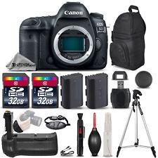 Canon EOS 5D Mark IV GPS/WiFi DSLR Camera + Battery Grip + EXT BATT - 64GB KIT