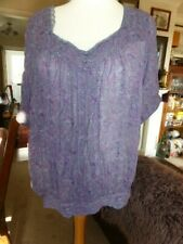MARKS & SPENCER TUNIC TOP SIZE 22