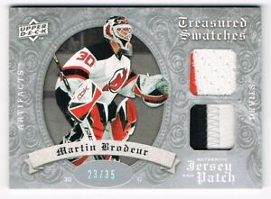 2008-09 Artifacts Treasured Swatches Jersey Patch Silver Martin Brodeur 23/35 !!