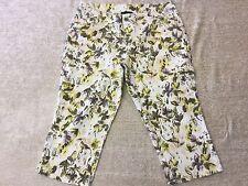 LANE BRYANT Stretch Womens Size16 Floral Print Capris Cropped Casual Dress Pants