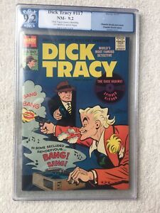 Dick Tracy Comics Monthly #117 Harvey Nov 1957 PGX 9.2 off-white to white pages