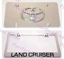 Toyota LAND CRUISER Stainless License Frame & Mirror Plate Combo Rust Free
