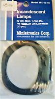 MINIATRONICS CORP INCANDESCENT LAMPS, #18~712~10 ~ NEW