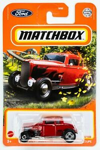2021 Matchbox #8 1932 Ford Coupe DEEP RED / MOC