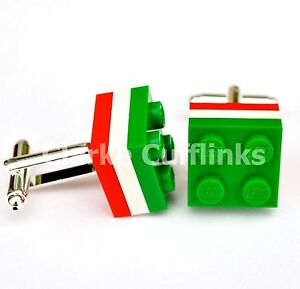LEGO® Brick Silver Plated LEICESTER TIGERS MENS RUGBY CUFFLINKS WEDDING GIFT