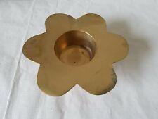 Brass Metal Candle tealight Holder Flower Petal shaped