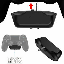 USB Bluetooth Wireless Headphone MIC Adapter For PS4 Controller Kit Set Black AU