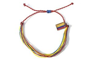 handmade friendship bracelets Colombia flag unisex