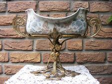 Prunk Schale ~ Porzellan mit Bronze im Jugendstil ~ EM1179