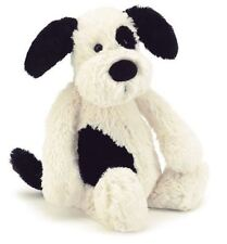 New Official Jellycat Bashful Puppy Black and Cream Medium New Plush Toy 31cm