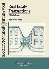 Examples & Explanations: Real Estate Transactions, 5th Edition, Barlow Burke, Go