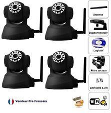 Lot de 4 Caméra IP Réseau WIFI Motorisé Infrarouge IPHONE ANDROID BOX ADSL Noir