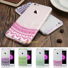 New Rubber Ultra-thin Clear Silicone Mandala Flower Phone Case Cover Protector