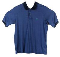 Brooks Brothers Pima Cotton Blend Mens Golf Polo Shirt Sz M Medium Royal Blue