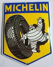 MICHELIN - TIRES(GARAGE). PORCELAIN EMAILLE ENAMEL SHIELD, SIGN, PLATE. RETRO