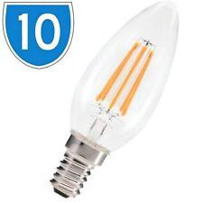 10x LED Candle 4W Light Bulb Edison Filament Style Lamp Spot SES Daylight White