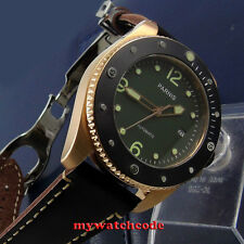 Parnis green dial golden case Sapphire Glass ceramic bezel Automatic mens Watch