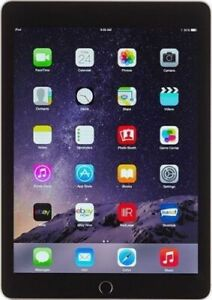 Apple iPad Air 2 64 GB Wi-Fi 9.7in Space Gray Newest IOS 15 Excellent Condition