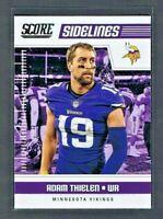 Adam Thielen 2018 Score Football SIDELINES #19 Minnesota Vikings