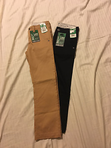 """Lee Dungarees: Boy's Slim Chino, Adj. Waist, """"Sure2Fit"""": Camel, Eclipse, S & R"""