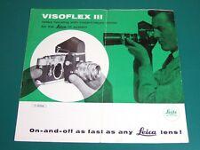 Leitz Leica-M Visoflex III Espejo reflejo vivienda instantánea de retorno inglés 4pp