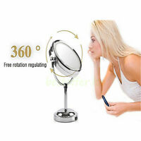 Dual Sided Desktop Beauty Makeup Mirror with Magnifying Cosmetic Light Mirrors