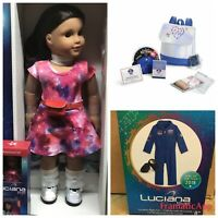 NEW Luciana Vega doll and book set and her accessories and flight outfit