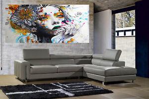170 x 100cm SUPER SIZE CANVAS PRINT - URBAN PRINCESS  GRAFFITI STREET  ART