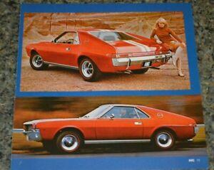 ★★1968 AMC AMX PICTURE FEATURE PRINT PHOTO 70 390★★