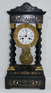 """elegante orologio chinato """" Boulle """"  Napoleone III 1870  con intarsi francese"""