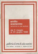 Emilio Scanavino: ceramiche e una scultura: dal 5 maggio al 20 giugno 1988.