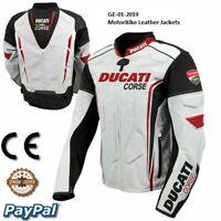 Men Ducati motorcycle motorbike leather racing jacket GE-01-2019 (US 38 - 48)
