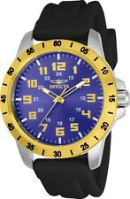 Invicta 21841 Men's Quartz Blue Dial Blue Polyurethane Band Watch