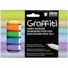 Marvy Uchida Graffiti Paster Fabric Markers 6 Color Set
