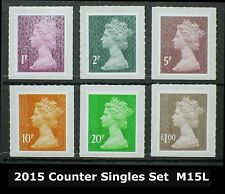 2015 M15L SECURITY MACHIN Definitives SET (1p, 2p. 5p, 10p, 20p, £1.00) SET of 6