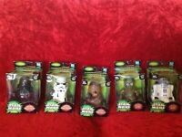 Lot of 5 Star Wars Power of the Jedi Super Deformed Figures from Japan