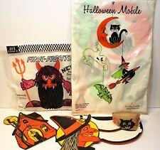 DESTASH LOT of 7 Vintage Halloween Mobile Fink Fighter Tissue Honeycomb Luhr
