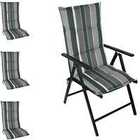 4er Set Hochlehner Sitzpolsterauflage 120x50cm Garten Stuhlauflage Palmenwedel