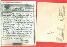 USA WWII Army Soldier Mail 2 diff Free Franked V MAIL Cover + Letter used 1944
