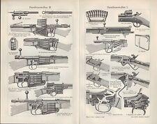 Lithografie 1906: Handfeuerwaffen. Repetier-Gewehr Waffen Magazin Spencer Lee