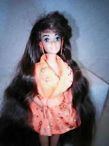 1992 Glitter Hair Barbie Doll, Brunette Teresa, Hollywood Hair outfit