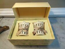 Lenox Pierced Ribbon Votives Set of 2 Porcelain Glass Candle/Votive holders Nib