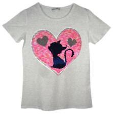 T-shirts, hauts et chemises gris col rond pour fille de 5 à 6 ans