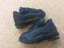 Kids Nike Little max 95 Trainers Infant Size 5.5 UK Blue / Black Good Condition