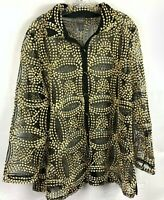 TRAVELERS Chico's Women's Size 3 Needle Stitch Black & Gold Jacket NWT $139