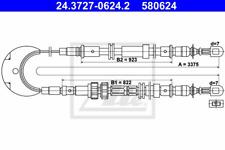 Seilzug Feststellbremse - ATE 24.3727-0624.2