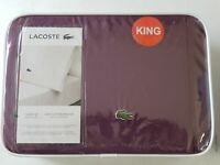 COMFY and SOFT Lacoste King Sheet Set 100% Cotton – Plum